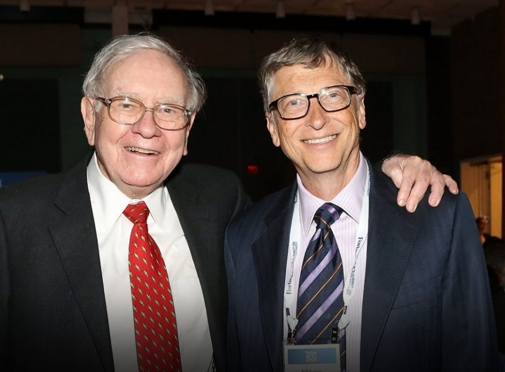 Warren Buffet & Bill Gates.
