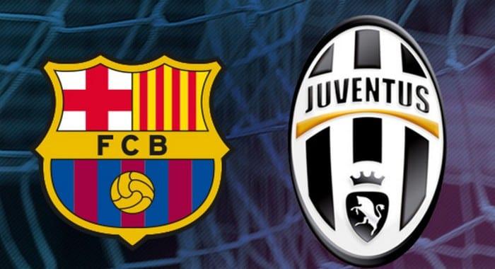 Logos de Barcelone et Juventus.