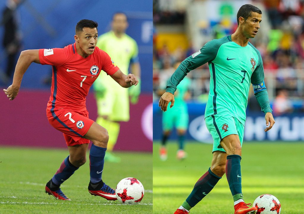 Alexis Sanchez et Cristiano Ronaldo.